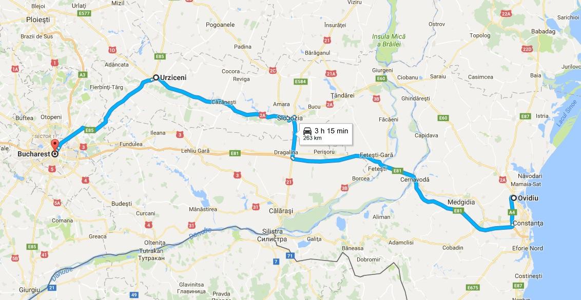 Ruta ocolitoare Bucuresti - Constanta