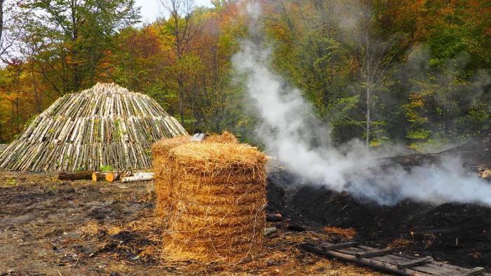 Musuroaile de carbuni sunt facute din lemne, paie si pamant